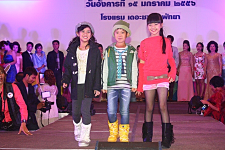 Youngsters also strut the catwalk modeling the latest high end children's wear.