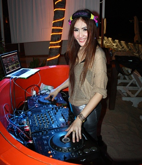 DJ Plugky spins the tunes at the Pullman Pattaya Hotel G.