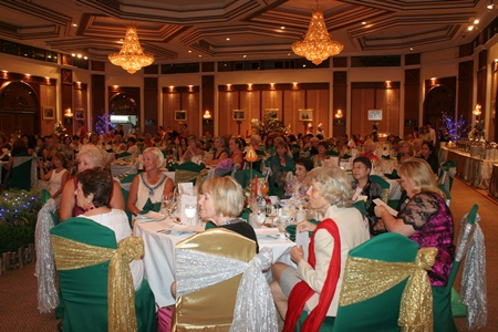 PILC members pack the room at the Royal Cliff Grand Hotel with their annual Christmas party.