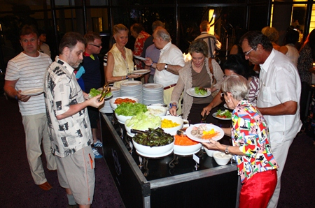 Guests at Hard Rock enjoy a sumptuous buffet prior to the concert.