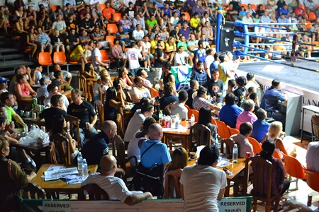 Fans soak up the atmosphere during 'Muay Thai Combat Mania', Dec. 30.