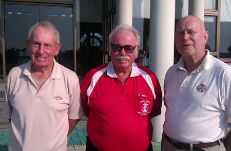 Don Richardson (left) and Stephen Cooper-Reade (right) with Dave Richardson.
