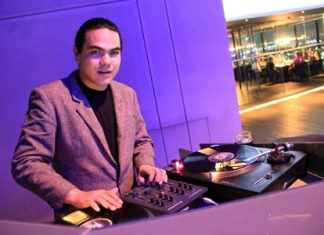 DJ Freddy Funk was the star turn at Horizon restaurant and bar on Saturday, Jan. 26.