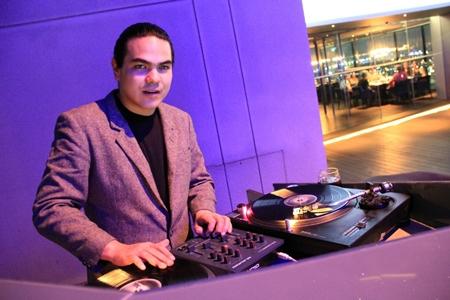 DJ Freddy Funk was the star turn at Horizon restaurant and bar on Saturday, Jan. 26.