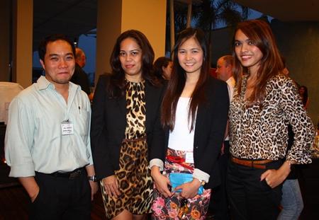 (L to R) Neil Maniquiz, Head of the International Marketing of Bangkok Hospital Pattaya, Papakan Saguansap, Spa Manager of Holiday Inn Pattaya, Janya Rattanaliam, Deputy Head International Marketing of Bangkok Hospital Pattaya and Yuwadee Prohkhuntod, Sales Manager of Holiday Inn Pattaya.