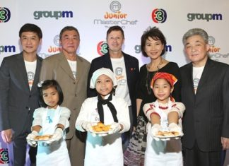 Bangkok Airways, led by Vice President for Corporate Communications M.L. Nandhika Varavarn (2nd right), attended a press conference at Westwood Studio recently to launch the 'Junior Master Chef Thailand', a fun and inspirational entertainment series in search of the best young amateur cook in Thailand. Also in attendance were Pravit Maleenont, Prasan Maleenont, Surin Krittayaphongphun - the management team of Television Channel 3 Thailand, Kevin Clarke, CEO of Group M Thailand and representatives from sponsorship partners and the media.