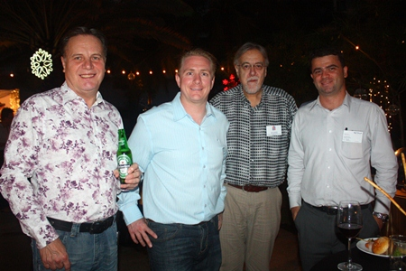 (L to R) Simon Matthews, Country Manager Thailand, Manpower Group; Michael Parham, Business Development Manager, CEA; Chris Thatcher, Director, British Chamber of Commerce Thailand; and Vincent Pourre, Corporate Account Manager, Efficient English Services Ltd.