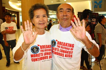 The oldest-ever competitors, 74-year-old Royal Thai Navy Rear Adm. Panjet Yomjinda and his 72-year-old wife Suwanna lasted a full 6 hours.