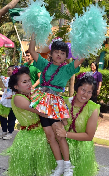The Green Team won the cheerleading competition.