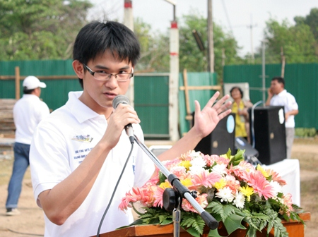 Student council president, Krassawan (Viking) Khongkhaphet, is delighted that this dream is finally becoming a reality.