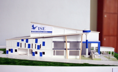 A model of the school's new fine arts center.