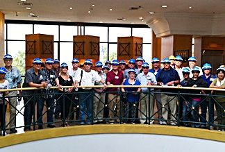 PCEC members ready to start their tour of the Meyer Industries Factory in Laem Chabang.