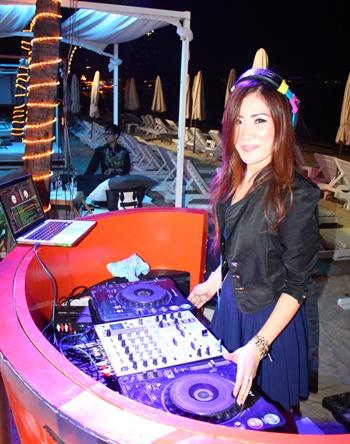 DJ Pookie spins the vinyl at the Pullman Pattaya Hotel G's Beach Bar.