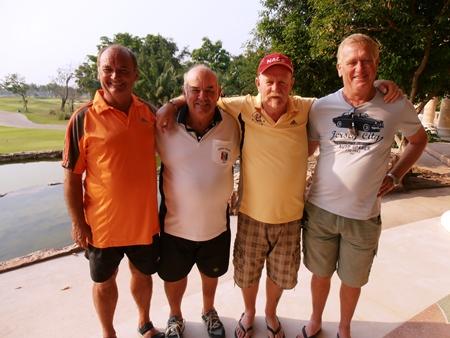 Sandy Leiper, Mike Gosden, Peter Grey & Ken Blinco.