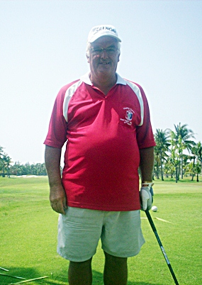 Mike Corner, January 'Golfer of the Month'.