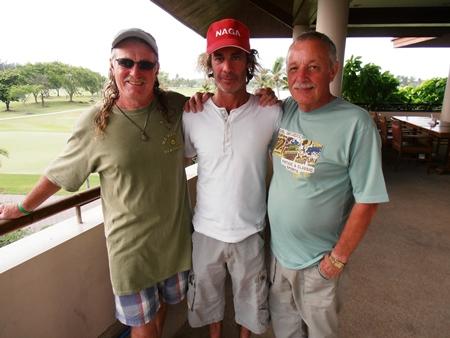 Ed Stewart, Niall Stuart & Bill Wilkinson.