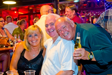 Rodney James, David Strachan and Pauline Strachan enjoy another rip-roaring Soul Night.
