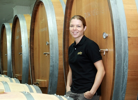 Winemaker Kathrin Puff.