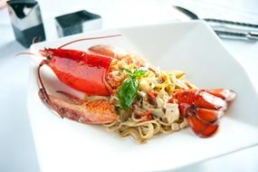 Fresh lobster at Acqua.