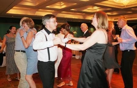 Dancing the night away.
