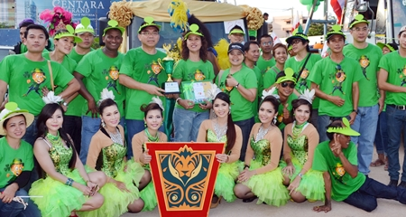 Centara Grand Mirage Beach Resort Pattaya - winners of the best decorated float trophy.