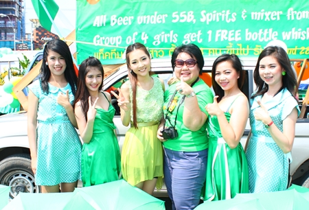 Pattaya Marriott Resort and Spa sent beautiful girls to celebrate St. Patrick's Day.