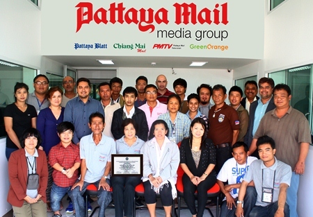 "Putting together the Pattaya Mail, PMTV, Pattaya Blatt and Chiang Mai Mail is a team effort and the entire Mail ""family"" deserves to be recognized."