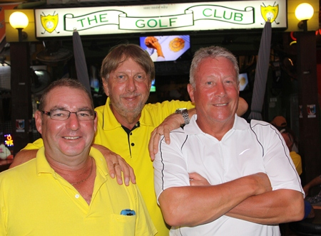 Micky Beresford, Peter LeNoury and John Walsh.