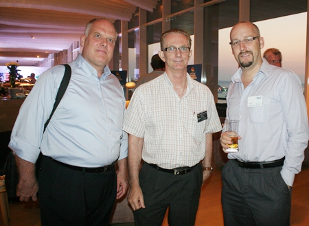 Scott Macdonald (RLC Co.) Mike Griffis (Harrington Industries) and Markus Wehrhahn (RLC Co.)