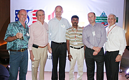Stuart Saunders (Es Design), George T. Strampp (Automotive Manufacturing Solutions), Craig Donnelly (MHG (Thailand) Co.), Ramesh Ramanathan (Visteon (Thailand), Duncan Williams (Faurecia Automotive Seating (Thailand) and David R. Nardone (Hemaraj Land and Development PCL).