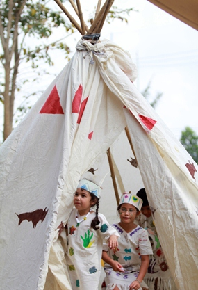 How! Do you want to visit our teepee?