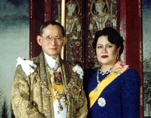 His Majesty King Bhumibol Adulyadej the Great and Her Majesty Queen Sirikit celebrate Their 63rd wedding anniversary on Sunday, April 28. (Photo courtesy of the Bureau of the Royal Household)
