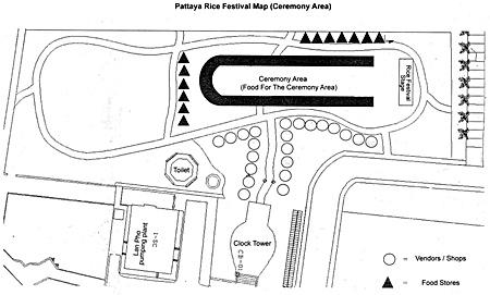 Naklua Rice Festival map.