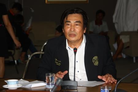 Deputy Mayor Ronakit Ekasingh, of Pattaya City, preparing Pattaya's Wan Lai