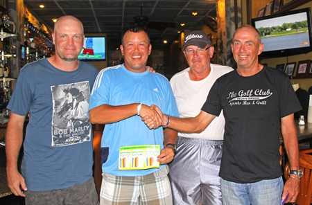 Mike Newbert, Brett Chan, Peter Rogers and Captain Phil Smedley.