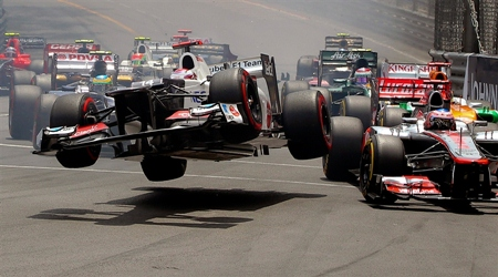 Tight squeeze in Monaco.