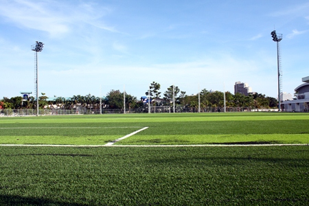 Pattaya's Youth Stadium has a brand new artificial turf surface, and is ready to go.