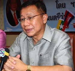 Tourism and Sports Minister Somsak Pureesrisak replies to questions asked by Pattaya media.