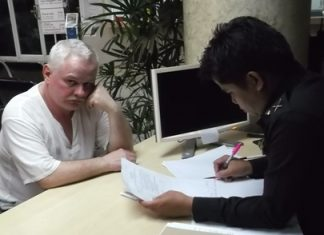 Sergei Trubarev files a complaint with police, and says he will never come back to Pattaya.