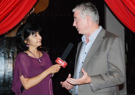 Sue interviews Amari Orchid Pattaya GM Brendan Daly for PMTV.