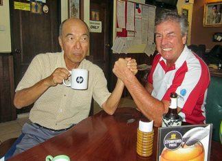 Mashi 'Strongman' Kaneta (left) with Mike Gaussa.
