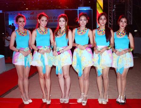 Brightly dressed women brighten up Eastern Fair.