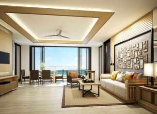 Two bedroom living area.