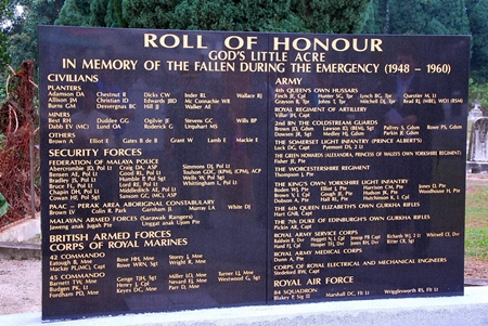 Roll of Honour at Gods Little Acre.