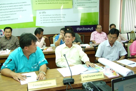 Chonburi officials are planning for the inevitable floods coming in September and October.