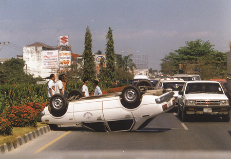 1997 - Leaving Pattaya for their flight, this might not have been avoided if their flight had left from U-Tapao. (At the time U-Tapao was in the running against Suvarnabhumi to become Thailand's 2nd major airport.)