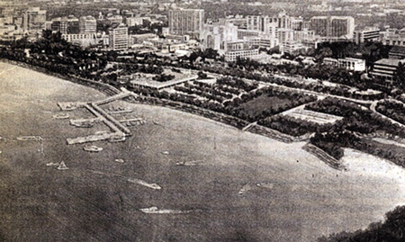 1995 - Pattaya landfill revived - An artist's impression of the ambitious reclamation and development project for South Pattaya.  Proposed in 1989, approved in 1992, budgeted for in 1993, rejected for contestable reasons in by the NEBC in 1994, possible revived in 1995 and scheduled for completion - who knows?