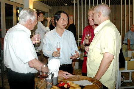 Sophon Vongchatchainont (center) GM of Pullman Pattaya Hotel G entertains guests at his hotel.