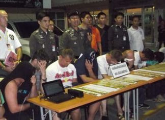 Police have arrested a gang of 10 Thai and foreign men suspected of looting more than 20 million baht from local ATMs.