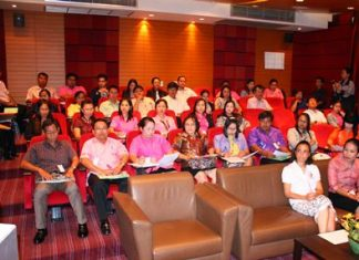 Pattaya teachers and school administrators are given training on child-protection laws and how to detect abuse at a seminar run by the Hand to Hand Foundation and ECPAT International.
